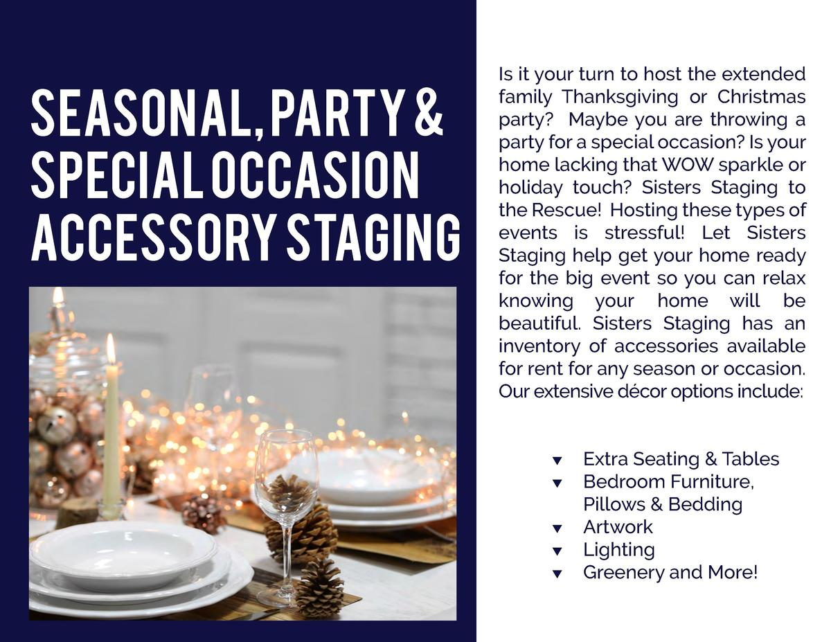 Seasonal, Party   Special Occasion Accessory Staging  Is it your turn to host the extended family Thanksgiving or Christma...
