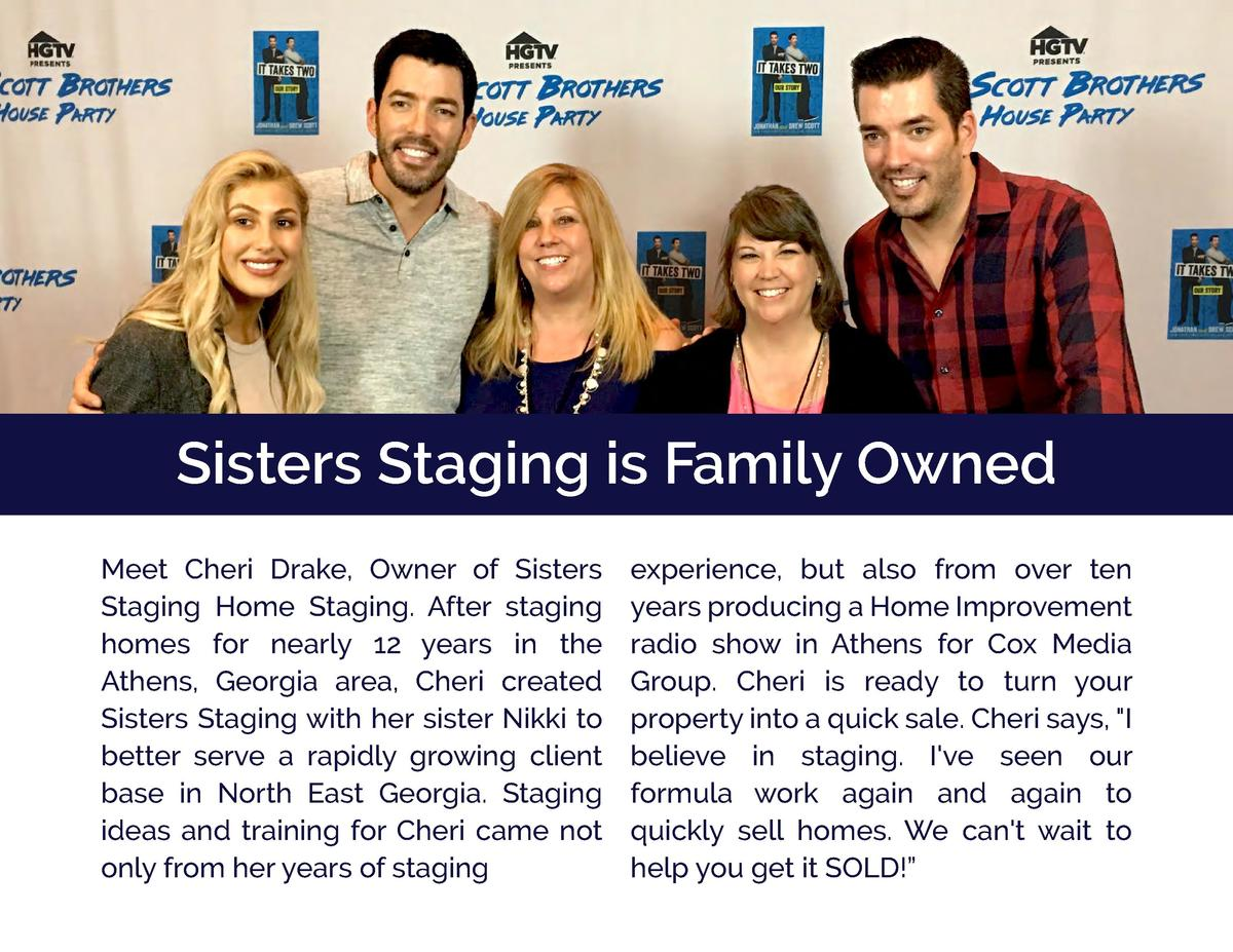 Sisters Staging is Family Owned Meet Cheri Drake, Owner of Sisters Staging Home Staging. After staging homes for nearly 12...