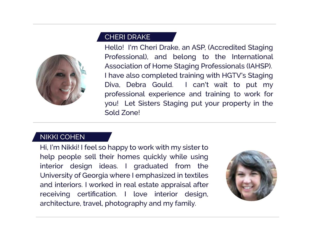 CHERI DRAKE Hello  I m Cheri Drake, an ASP,  Accredited Staging Professional , and belong to the International Association...